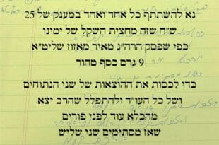 """קריאת הקודש של הגה""""צ הרב אליעזר ברלנד שליט""""א"""