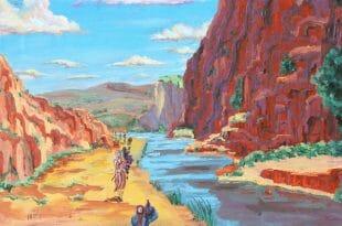 """דברי הגה""""צ הרב אליעזר ברלנד שליט""""א לפרשת שלח - הציור הנפלא באדיבות הרב יהושע וייסמן שיחי'"""