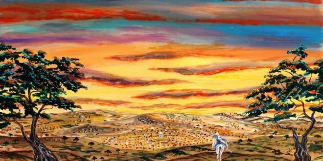 """פרשת בלק מפי הגה""""צ הרב אליעזר ברלנד שליט""""א - הציור המדהים של הצייר ר' יהושע וייסמן שיחי'"""