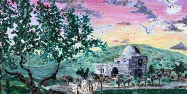 """הגה""""צ הרב אליעזר ברלנד שליט""""א לפרשת תולדות - הציור באדיבות הרב יהשוע וייסמן שיחי'"""