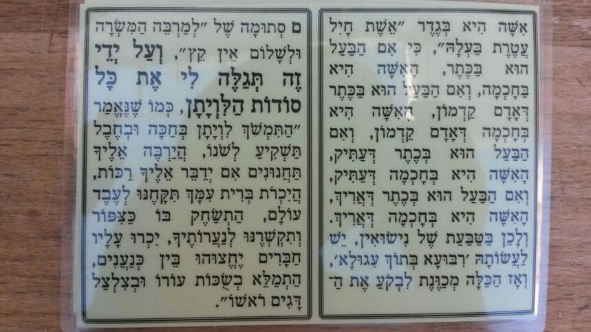 """תפילה מאת הגה""""צ הרב אליעזר ברלנד שליט""""א - לכבד את האישה 2"""