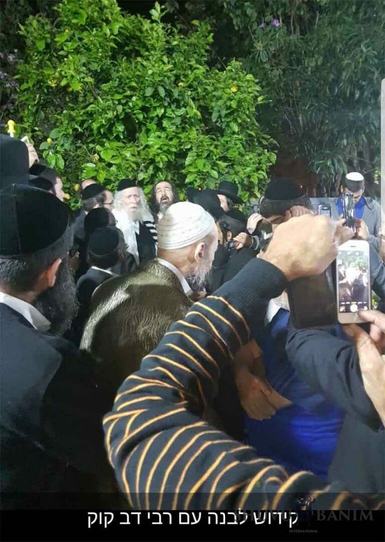 """הרב ברלנד שליט""""א והרב דב קוק מטבריה שליט""""א בברכת הלבנה"""
