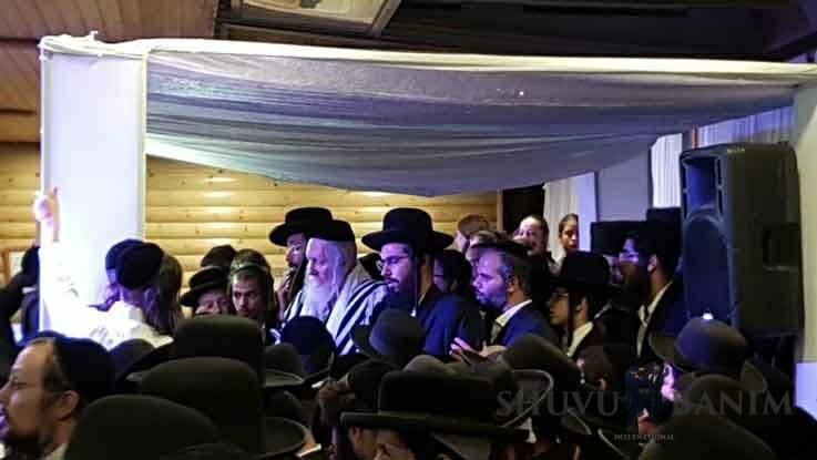 """הגה""""צ הרב אליעזר ברלנד שליט""""א בשמחת הנשואין של משפחות כץ ולוי באולמי שירת ירושלים"""
