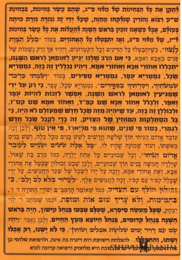 """תפילה שמורינו הגה""""צ הרב אליעזר ברלנד שליט""""א יגיע לאומן לקיבוץ של ימי ראש השנה - חלק 2"""