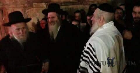"""הרב שמואל שטרן שליט""""א עם מורינו הרב ברלנד שליט""""א בסוכות"""