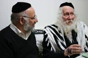 "כ""ק הגה""צ הרב אליעזר ברלנד שליט""א עם רבי אברהם ויזמאן שליט''א"