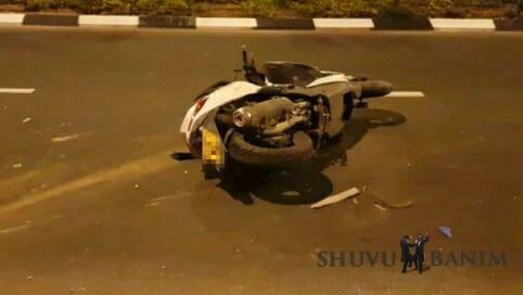 """האופנוע עימו נהרג הבה""""ח שמואל קוסובסקי ז""""ל"""