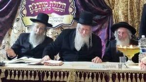מורנו הרב אליעזר ברלנד שליטא עם בנו הרב נחמן והרב יהושע דב רובינשטיין~1